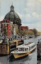 BF37263 netherlands amsterdam singel met ronde luthersekerk   Boat Ship Bateaux