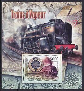 Burundi  Block 220 (2440) **, Dampflokomotiven / Locomotives (9 ME)