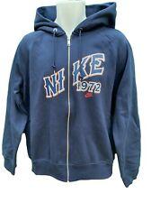 NEW Vintage NIKE Sportswear NSW  NIKE 1972 Full Zip Hoodie Jacket Blue L