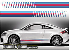 Audi Martini side racing stripes 002 vinyl graphics stickers A1 S1 TT A3 S3