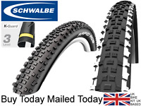 Schwalbe Rapid Rob 27.5 29 x 2.25 K-Guard Knobbly White Line Mountain Bike Tyre