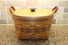 Longaberger 1997 May Series PETUNIA basket combo woodcraft lid protector