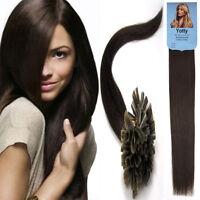 Pre-Bonded Keratin U Nail Fusion Tip Glue Remy Human Hair Extensions Beauty 100S