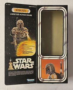 """Vintage Star Wars 12"""" BOBA FETT Original Box ONLY 1979 Kenner LSAF NICE!! Read"""