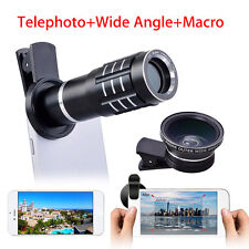 12.5x Macro+Wide Angle+Macro Lens Clip Camera Lens Kit For Samsung Smartphone