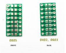 10 PCS SMD/SMT Components 0805 0603 0402 to DIP Adapter PCB Board Converter