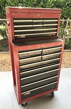 Vintage 1970's Classic Craftsman Mechanics Rolling Tool Cabinet & Chest