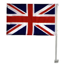 2 x Union Jack Car Window Flags Great Britain United Kingdom Free UK Shipping