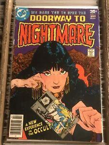 DOORWAY TO NIGHTMARE #1 KEY BOOK 1st app MADAME XANADU micheline kaluta 1978 DC