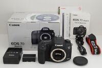 """MINT"" Canon EOS 7D Mark II 20.2MP Digital SLR Camera Black Body w/ Box #190902h"