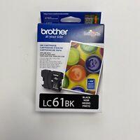 NEW Genuine Brother LC61BK Black InKOriginal Sealed Exp. Date.2021.03