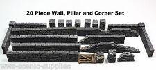 GTS a mur de pierre et piliers sections 20 pcs-Wargames Warlord WARHAMMER 25-28 mm