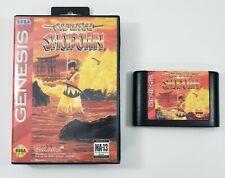 Samurai Shodown (Sega Genesis, 1994) Game Cartridge & Case TESTED