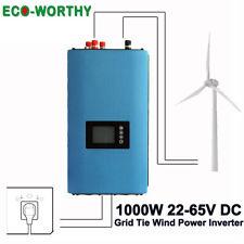 1000W Windkraftgenerator Grid Tie Inverter Wechselrichter AC 110V 220V & MPPT
