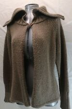 Mac & Jac Women's Cardigan Size Large Grey Gray Knitted Poncho Sweater Warm