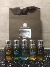 Molton Brown Men's Body Wash / Shower Gel / Gift Set (5 x 30ml) Bottles - NEW