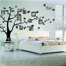 DIY Home Removable Big Tree Photo Frame Wall Sticker House Room Decal New