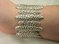 BUTW Cast pewter stretchable bracelt 3134E ab