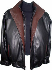 1016 Best Tailors Mens Leather Jackets Winter Coat Larger Size Long Tall and All