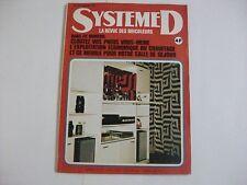 SYSTEME D N°337 FEVRIER 1974 CLOUTER UN PNEU LE CHAUFFAGE MEUBLE SALLE DE SEJOUR