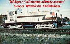 LMH Postcard  BICENTENNIAL Switcher INDIANA HARBOR BELT  IHB #1976 #8776 EMD NW2