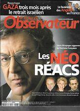 LE NOUVEL OBSERVATEUR N° 2146--LES NEO REACS--FINKIELKRAUT/HOUELLEBECQ/MURAY