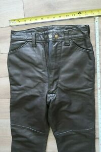 """USA original Langlitz Leathers Motorcycle Pants black Goatskin 24"""" X 27"""""""