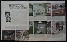 Life of Nikola Tesla Educational Historical Comic 1956