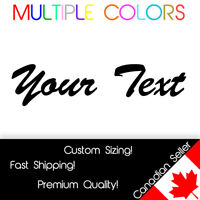 Custom Text Decal YOUR TEXT Car Wall vinyl sticker Script Personalized Lettering