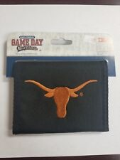 Texas Longhorns Mens Wallet Bifold Black Orange Bi-fold New