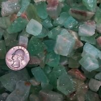 2000 Carat Lots of SMALL Green Calcite Rough + A FREE Faceted Gemstone