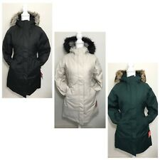 The North Face Women's Arctic Parka Down Coat Black Green White + XS S M L XL