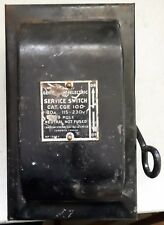 Antique General Electric Service Switch Fuse Box Steam Punk Canadian Toronto