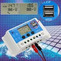 12V/24V AUTO 10A/20A LCD PWM Solar Panel Charge Controller With Dual USB 5V MT