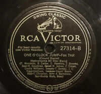 """VICTOR 27314 METRONOME ALL STARS """"ONE O'CLOCK JUMP"""" 1941 hot jazz """" 78 rpm"""