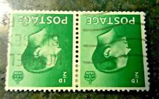 Sg457wi - 1/2d Green Pair with Watermark Inverted - 1936
