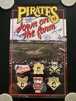 Vintage Pittsburgh Pirates Down on the Farm Signed Poster