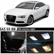 17x White Interior LED Lights Package Kit for 2008-2015 Audi A5 S5 B8 Error Free