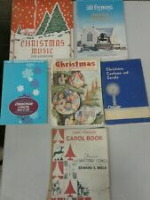Lot of 6 Mid Century Christmas Carol Sheet Music Books 40s 50s (dd) (bb24)
