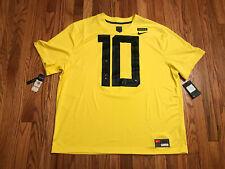 Oregon Ducks Nike Jersey Football Yellow Rare Mens 3XL #10 New With Tags Dri Fit