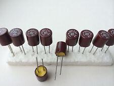 10x NOS ROE EK 100uF/25V ROEDERSTEIN bakelite capacitors