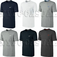New Mens Nike T-Shirt Retro Gym Sports Tee Swoosh Vintage Top Size S M L XL