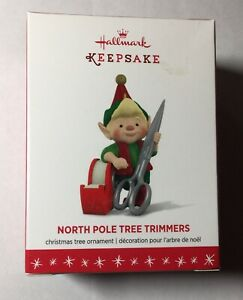 Hallmark Keepsake Ornament North Pole Tree Trimmers 4th Ornament 2016
