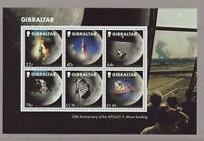 Gibraltar 2019 MNH - Moon Landings 50th Anniversary m/sheet