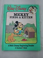 Mickey Finds A Kitten Walt Disney fun to read vol 7 vtg 1986 Bantam Book