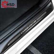 Carbon Fiber Door Sills Protector Car Stickers For BMW E90 3 series 2005-2009