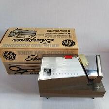 Vintage - GE Knife & Scissors Sharpener - Table Top - Built In & Magnetic Guides