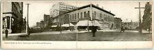 "1910s COUNCIL BLUFFS Iowa Folding Postcard ""Panoramic View of Main and Broadway"""