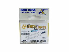 NEW BAD BASS MINI SPINLINK CLIP TO TACKLE STAINLESS STEEL 18LB MADE IN ITALY