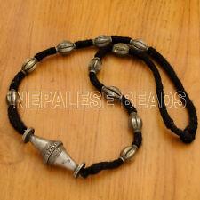 "White Metal Necklace 29"" Tibetan Handmade from Nepal by Eksha Limbu UN1163"